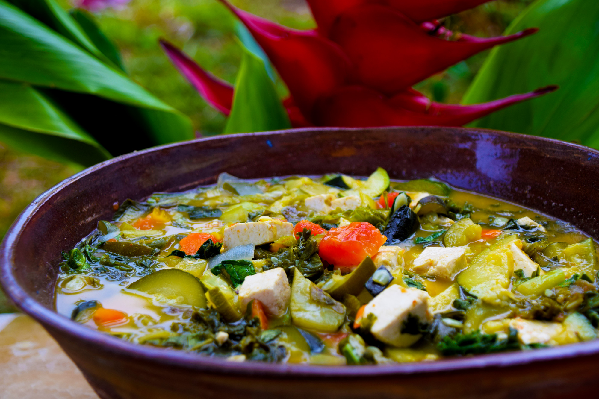 Gourmet Vegetarian Farm to Table Dining at Ahimsa Sanctuary Farm, Maui